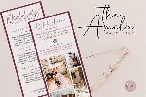 Canva Wedding Rack Card Template
