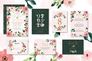 Sweet Floral Wedding Invitation Set