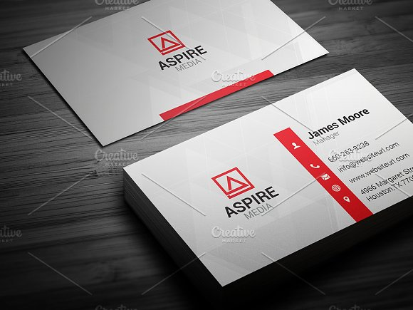 simple business card business card templates creative market - Simple Business Card Design