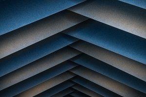 Abstract metal symmetric line