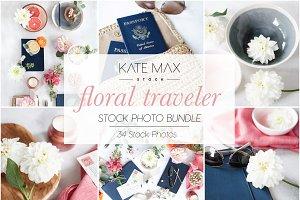 Floral Traveler Stock Photo Bundle
