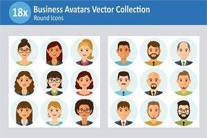 18x Business People Avatars set