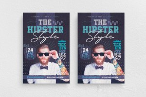 The Hipster Style Flyer Template