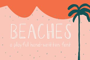 Beaches | A Playful Font