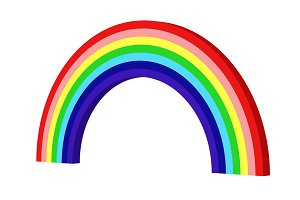 Colorful rainbow. Circle shape abstr