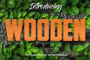 10 Wood Style for Photoshop