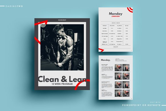 F3 Ebook Template Powerpoint Keynote Magazine Templates Creative
