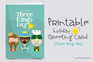 Greeting Card//Three Kings Day