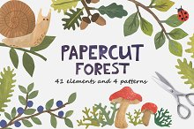 Papercut Forest by  in Illustrations