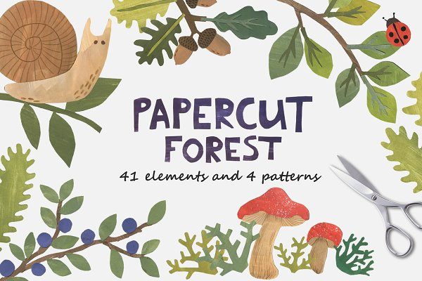 Illustrations: Ukulikki - Papercut Forest