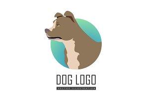 Bullmastiff Dog Logo on White