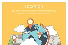 Location Concept. World Map