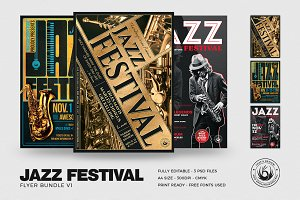 Jazz Festival Flyer Bundle V1