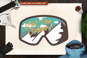 Hit The Slopes - Mountain Logo Patch