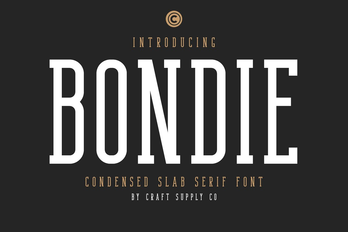 Bondie - Condensed Slab Serif Font
