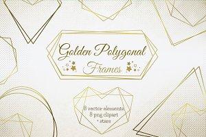 Gold Polygonal Frames clipart