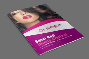 Beauty Saloon Brochure Templates