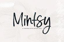 Mintsy - Handwritten Brush Font
