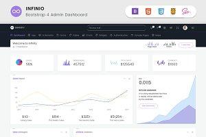 InfiniO - Bootstrap4 Admin template