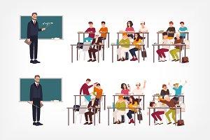 Good and bad behavior at school