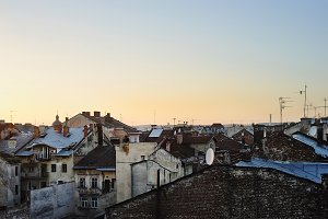 Roof tops. Lviv, Ukraine