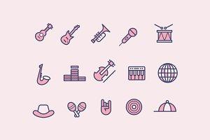 15 Music Genre Icons