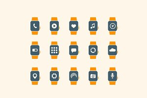 15 Smart Watch App Icons