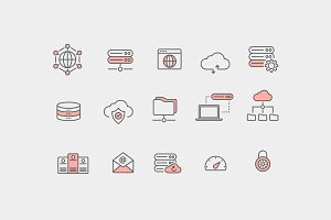 15 Web Hosting Icons
