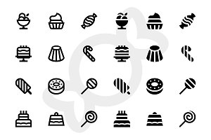 126 Dessert icons