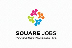 Square Jobs Logo Template