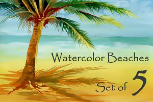Watercolor beaches