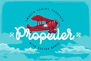 Propeller font + illustration