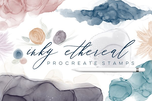 Inky Ethereal Procreate Stamps
