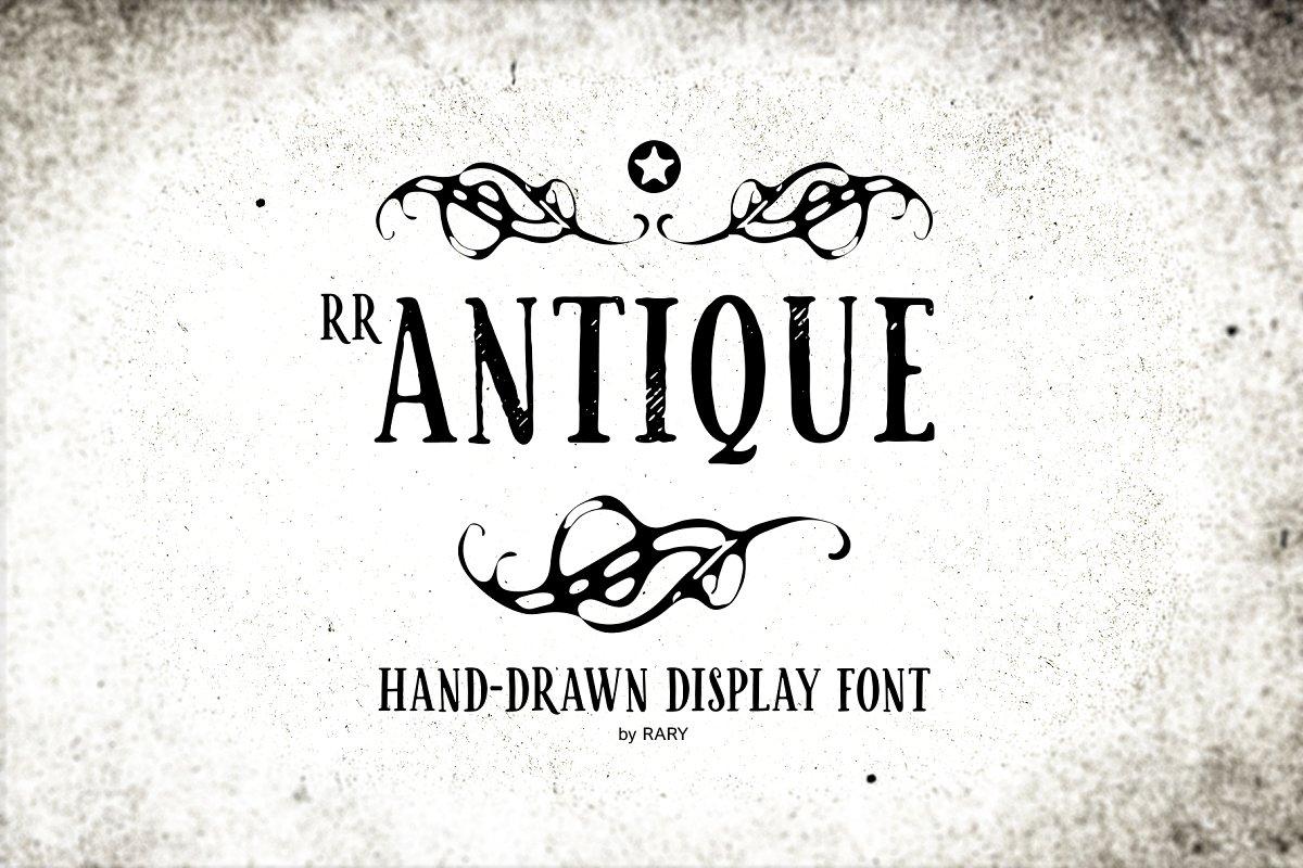 RR Antique / Vintage branding font