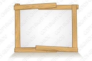 Wooden Frame Sign Background Design