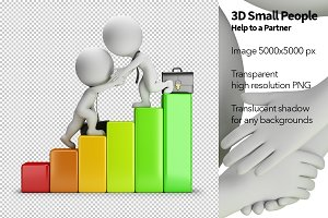 3D Small People - Help to a Partner