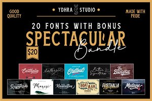 Spectacular Bundle (20 Fonts+Bonus)
