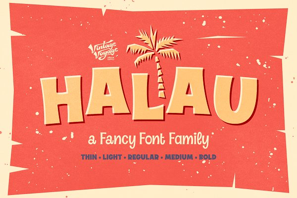 Display Fonts: Vintage Voyage D.S. - Halau • A Fancy Font Family