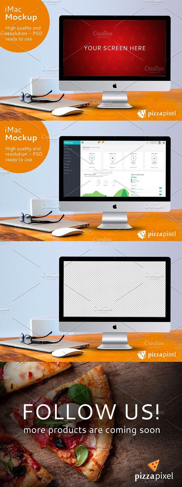 Download iMac Screen Mockup PSD File