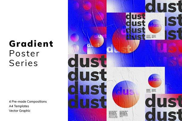Flyer Templates: Anna Gruszkowska - GRADIENT Poster Series