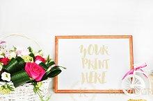 Frame mockup. Styled stock photo