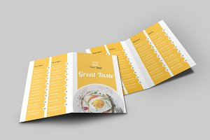 Food Menu Bi-Fold Brochure