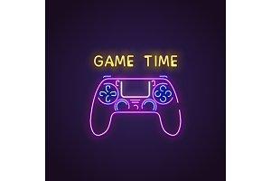 Gamepad neon banner