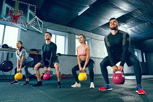 The strong young fitness men and