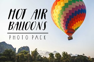 hot air balloons, travel Photo Pack