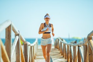active sports woman in sport clothes