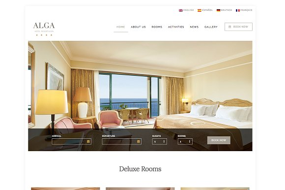 Alga - Hotel, Resort & Spa WordPress
