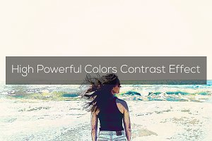 High Powerful Colors Contrast Effect