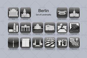 Berlin landmark icons (16x)
