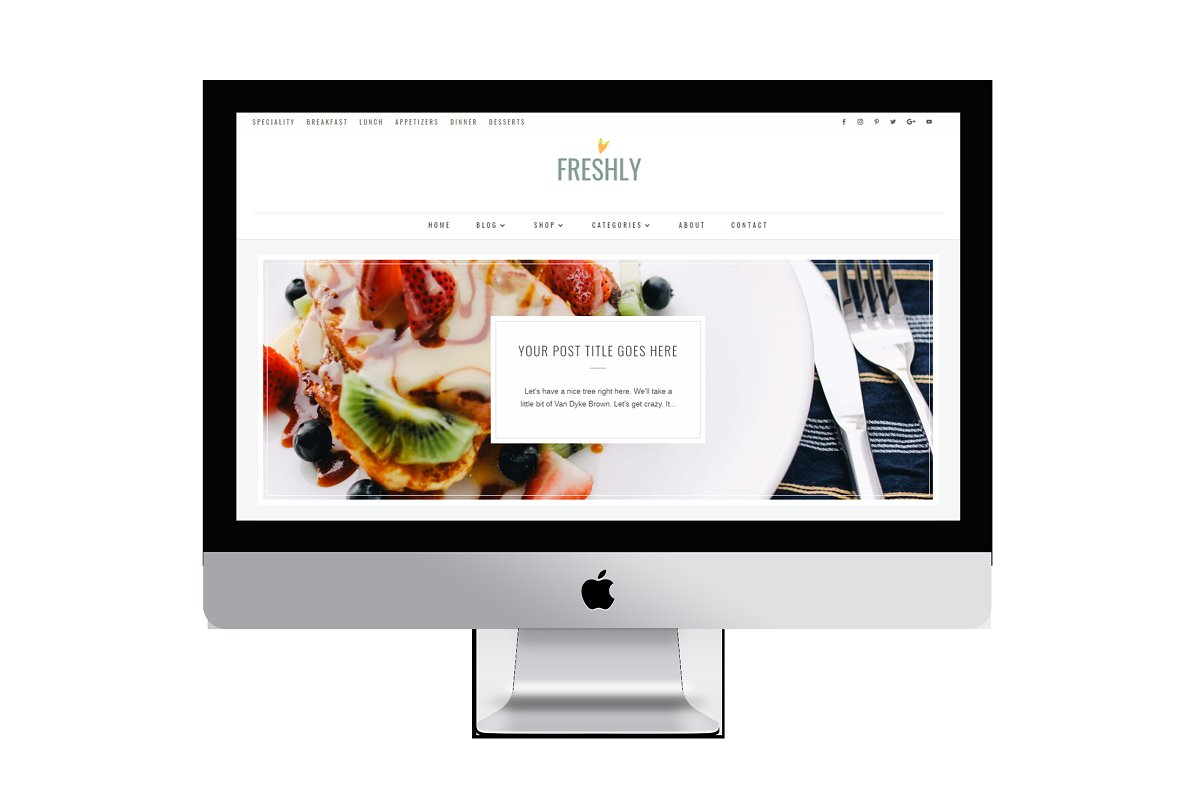 Freshly Divi Food Recipe Blog Theme